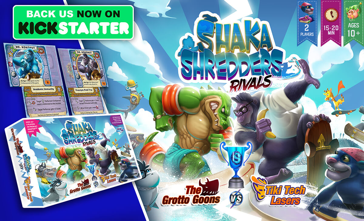 Shaka Shredders: Rivals - The Grotto Goons vs. Tiki Tech Lasers Now Live on Kickstarter!
