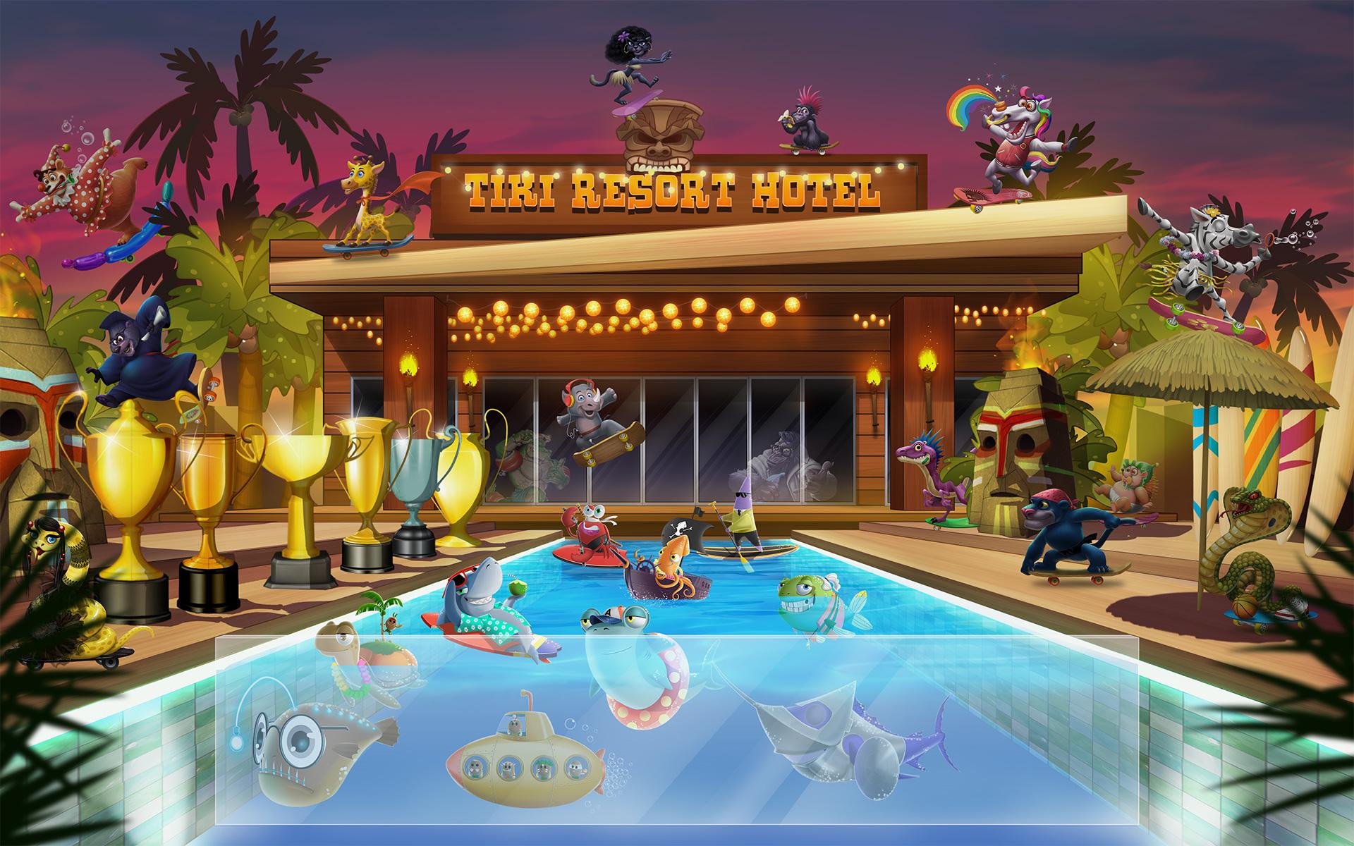 Shaka Shredders Tiki Resort Hotel