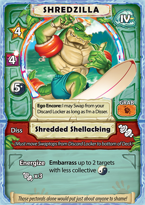 Shaka Shredders Swaptop Card - Shredzilla