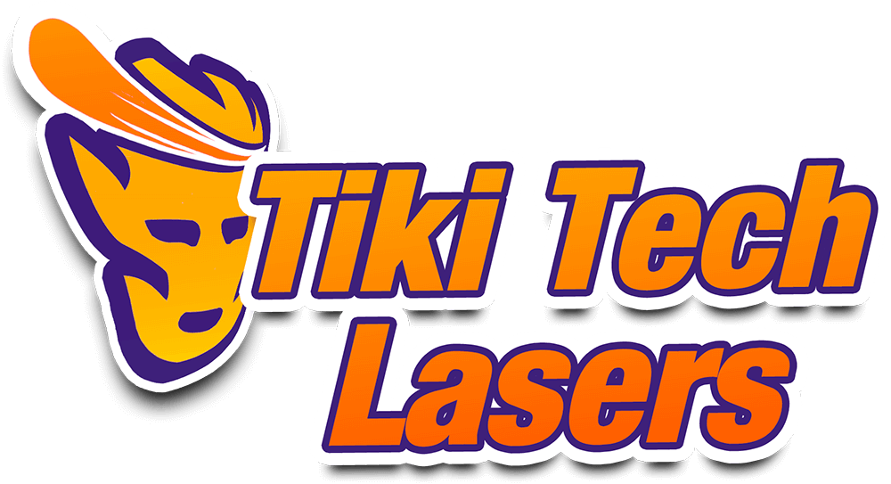 The Tiki Tech Lasers Logo
